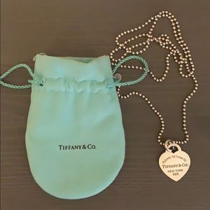 Authentic Tiffany's Dog Tag necklace